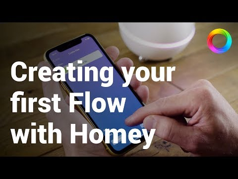 Create your first Flow with the Homey app