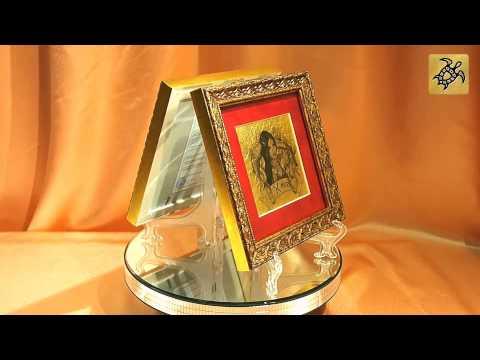 Подарок знак Зодиака РЫБЫ - картина на сусальном золоте