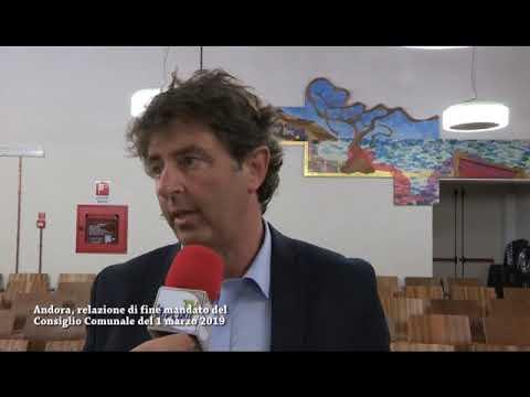 ANDORA, BILANCIO DI FINE MANDATO CORRADO SIFFREDI DELEGATO AL COMMERCIO