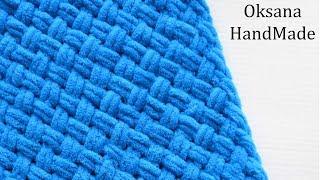Плед плетенка из пряжи ализе