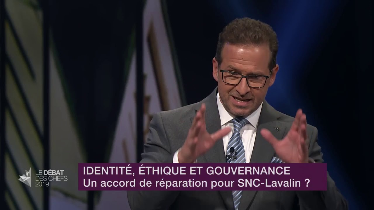 Yves-François Blanchet answers a question about SNC-Lavalin
