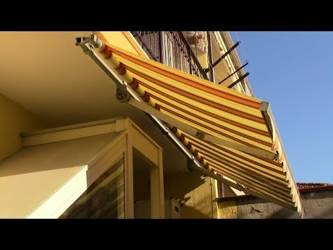 Cambiare TELO TENDA da sole a bracci estensibili-How to replace an AWNING CLOTH with extensible arms