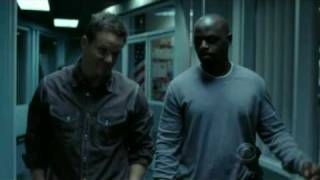 Numb3rs - David and Colby imitating famous movie trailers voice