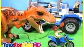 Videos de Dinosaurios para niños 🐊 Juguetes de Jurassic World T- Rex 🐊 Lego Jurassic World T-Rex