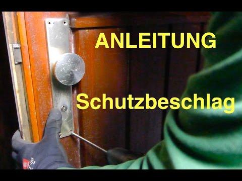 Haustür HOPPE  Schutzbeschlag wechseln - Einbruchschutz - Anleitung