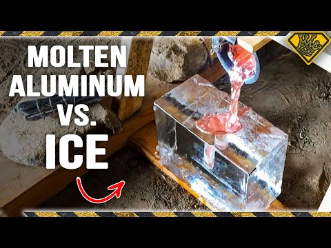 Molten Aluminum on Clear Ice is CRAZY
