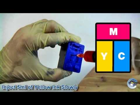 How to Refill HP 22, HP 22XL, HP 28 & HP 57 Colour Ink Cartridge