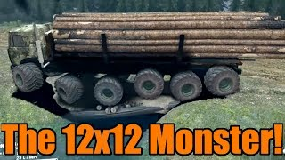 Spin Tires | 12x12 | Monster Hauling Machine!