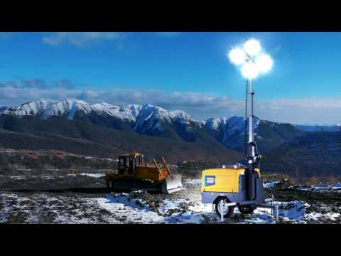 The led light tower for quarry and construction sites in extreme environments - zdjęcie