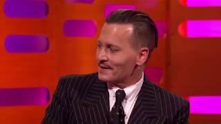 Johnny Depp Pretended To Be A Robot (RUS) ... Джонни Депп прикинулся роботом ...