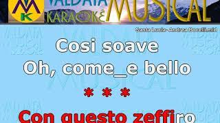 Santa Lucia  Andrea Bocelli   Karaoke