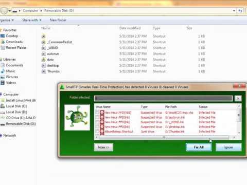 Video Cara Mengatasi Virus Shortcut vbs sementara pada flashdisk ~ Abeng Yogta