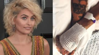 Paris Jackson Shares Touching Moment Holding Grandpa Joe Jackson's Hand