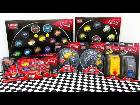 Unboxing Disney Cars Mini Racers Toy Packs, Mack Hauler Truck, 3-Pack Series And Launchers!