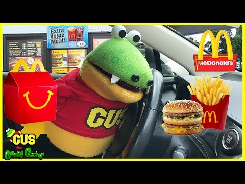 McDonald's Drive Thru! Gus gets Happy Meal Toys