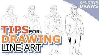 Drawing line art tips