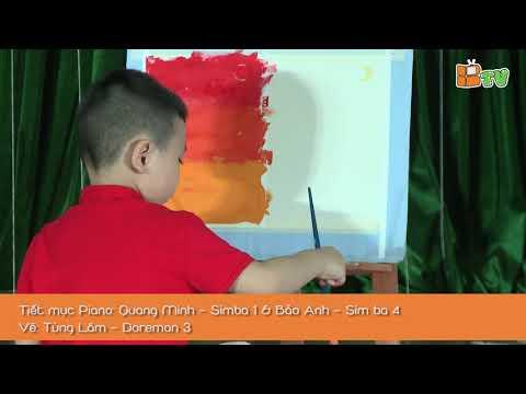 Tiết mục: Đàn Piano Quang Minh - Simba 1, Bảo Anh - Sim ba 4, vẽ: Tùng Lâm - Doremon 3