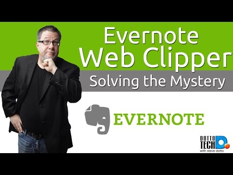 Evernote Web Clipper tutorial