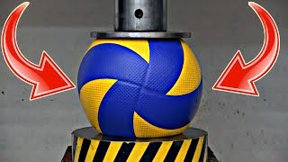 VOLLEYBALL BALL VS HYDRAULIC PRESS !? Volleyball Experiments (HD)
