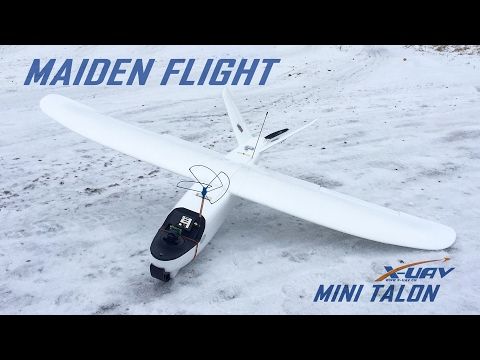 xuav-mini-talon-maiden-flight--long-range-fpv