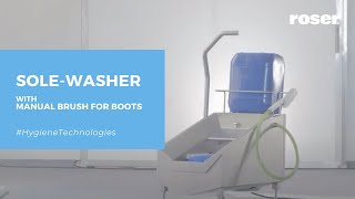 ROSER SOLE-WASHER WITH MANUAL BRUSH FOR BOOTS