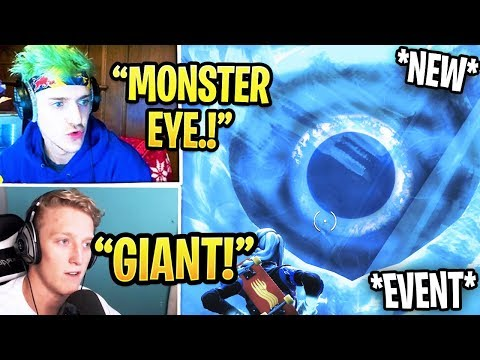 , title : 'Streamers React To *NEW* GIANT MONSTER EYE In Polar Peaks! *LIVE EVENT* Fortnite'