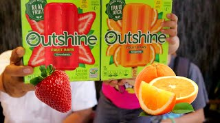 Strawberry and Tangerine Frozen Fruit Bars Outshine Bars