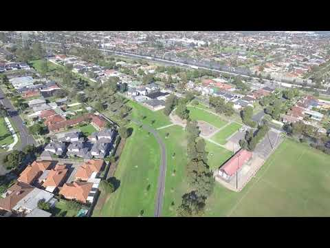 Aerial drone footage from Geelong Road to Millers Road, Brooklyn