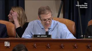 WATCH: Rep. Jim Jordan's full questioning of Vindman and Williams | Trump impeachment hearings