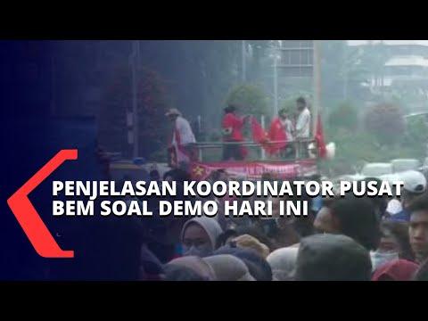 gelar demo tolak uu cipta kerja ini penjelasan koordinator pusat bem seluruh indonesia