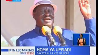 Raila Odinga asisitiza mapatano yake na Rais Kenyatta inapaswa kumaliza ufisadi