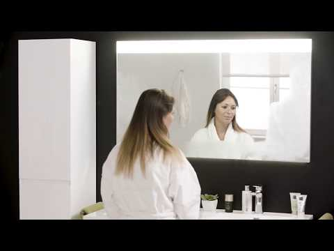 Storke Lucera miroir rectangulaire 130x70cm avec éclairage LED intégré