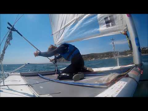 How to tack a catamaran