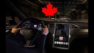 Взяли с женой машину Tesla покататься. Канада, Онтарио, Торонто. Сергей Гудин. Эмиграция в Канаду