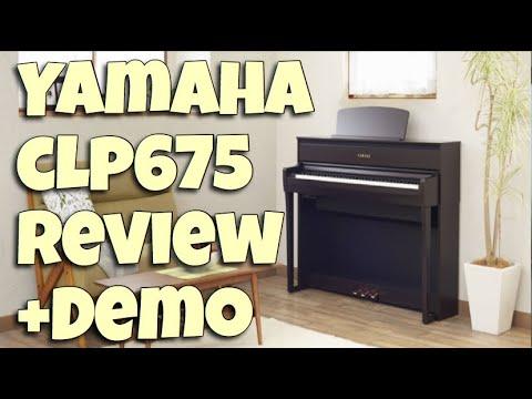Yamaha Clavinova CLP 675 Demo + Review 中文字幕。