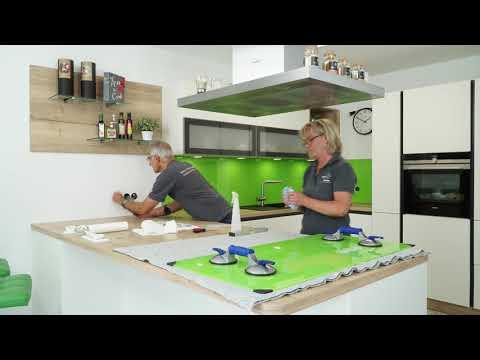 Spritzschutzwände aus Glas für moderne Küchen - by Glasart Thesen