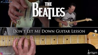 Don't Let Me Down Guitar Lesson - The Beatles