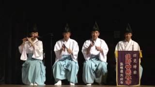 後野神楽社中松阪に舞う石見神楽鏡山2017