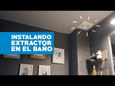 Cómo instalar un extractor en el baño