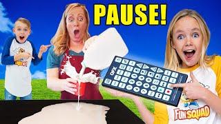 Kids Fun TV Pause Remote Challenge Compilation! Sneaky Jokes!