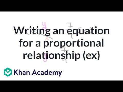 Writing proportional equations from tables (video) | Khan ...