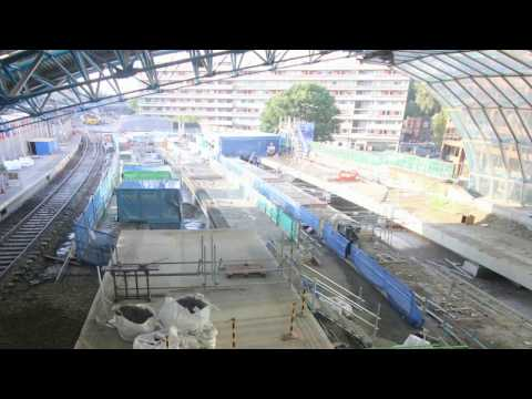 Timelapse footage of Waterloo & South West Upgrade platform …