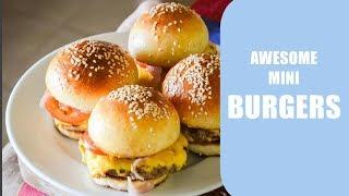 The Perfect Mini Hamburgers | Burger Buns Recipe