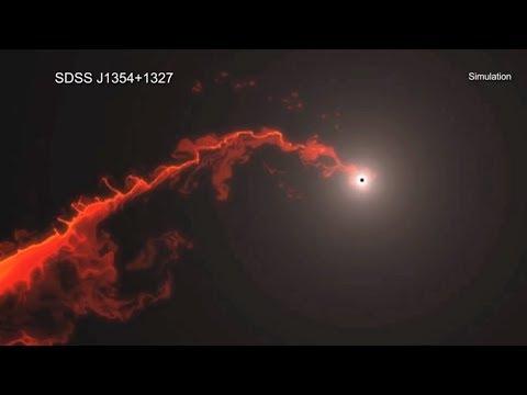 Gli astronomi osservano, per la prima volta, un buco nero che espelle la materia