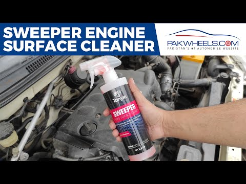 How To Clean Car Engine | Sweeper Engine Cleaner | Engine Degreaser | PakWheels