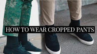 How To Wear Cropped Pants 3 Ways | Mens Fashion Lookbook