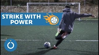 How to STRIKE a Football with POWER