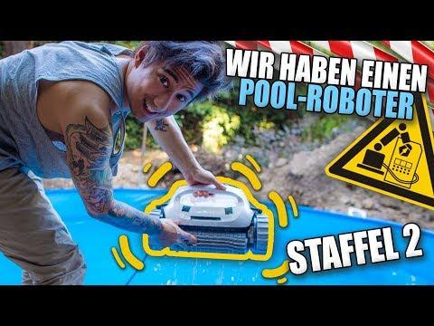Unser neuer POOL-ROBOTER ist da (Poolbau Staffel 2 lol)