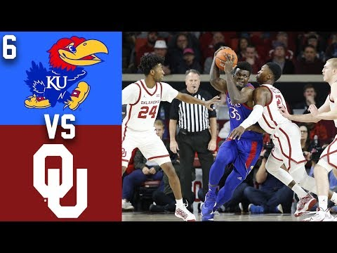 2020 College Basketball #6 Kansas vs Oklahoma Highlights