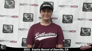 2023 Sophia Baccei Third Base Softball Skills Video - Batbusters Gomes/Ching